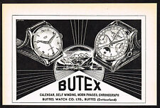 1950's Vintage 1953 Buttes Butex Watch Co. - Paper Print AD