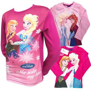 357ea895a KIDS GIRLS DISNEY FROZEN ANNA ELSA OLAF LONG SLEEVE TOP BABY PINK 3 ...