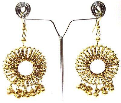 Golden Oxidized Earring Jhumka Jhumki Bali Drop Dangle Hoop Long Jewelry C48