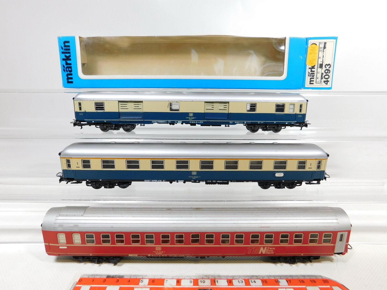 Bz944-1  3x marklin h0 ac Vagone Letto etc DB  4093 + aüm + WLABsm, 2. scelta