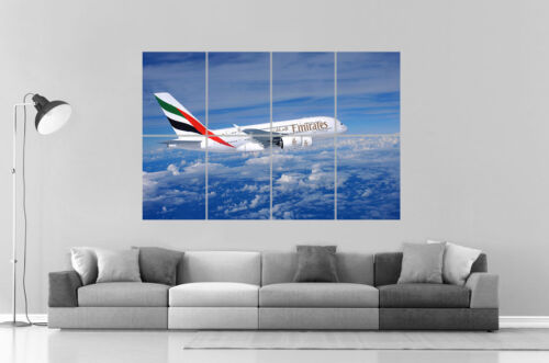 FLY Avion Emirates Airline Airbus A380 Wall Poster Grand format A0 Large Print