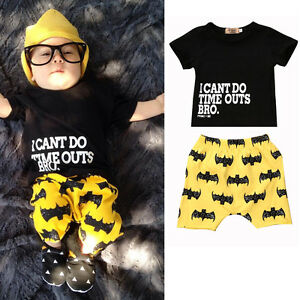 f0ded7c7 New Toddler Kids Baby Boys Batman Clothes Tops T-shirt+Pants Shorts ...