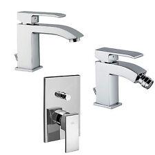 Miscelatori rubinetti bagno lavabo + bidet + doccia con deviatore Paffoni  Level