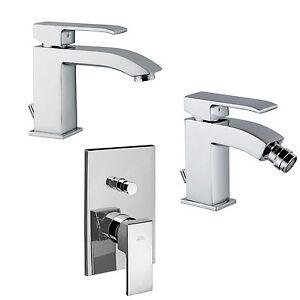 Miscelatori rubinetti bagno lavabo + bidet + doccia con deviatore ...