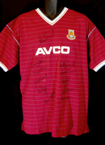 West Ham 1986 Replica Football Shirt Signed By 12