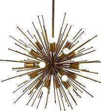 Brass Metal Sputnik Urchin Satellite Chandelier Light Fixture Modern