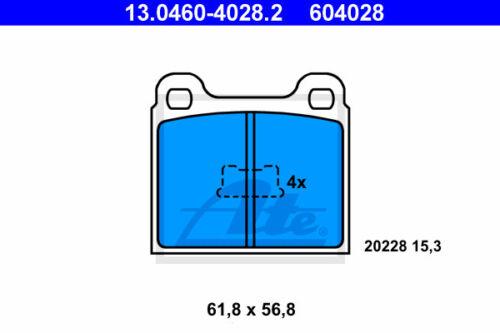 ATE Bremsbelagsatz Vorderachse 86C, 80 13.0460-4028.2 für VW DERBY VA
