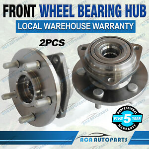 Pair-Front-Wheel-Bearing-Hub-Hubs-For-Jeep-Cherokee-XJ-94-98-Wrangler-TJ-96-98