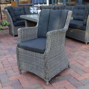 Gut Das Bild Wird Geladen Sessel 2er Set Vintage Grau Geflechtsessel Alu  Polyrattan