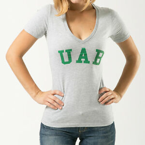 UNIVERSITY OF ALABAMA WOMENS V-NECK SHORT SLEEVE GRAY T-SHIRT XL NWT NEW NCAA