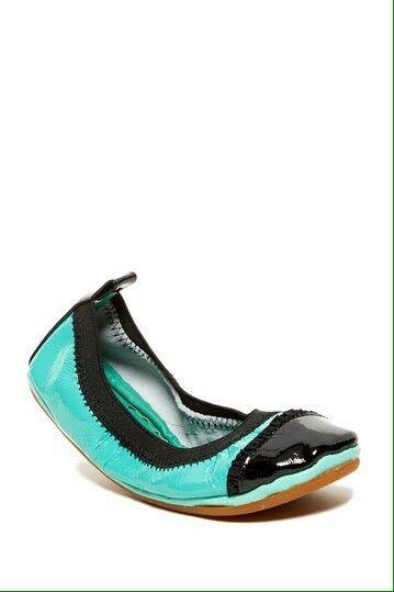 062c2d0579a Yosi Samra Girls Ballet Flats Turquoise Black Patent Mary Jane Shoes Size 1  - 4 2 for sale online