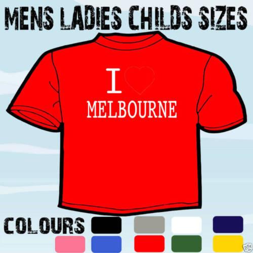 I LOVE HEART MELBOUNRE AUSTRALIA T-SHIRT ALL SIZES