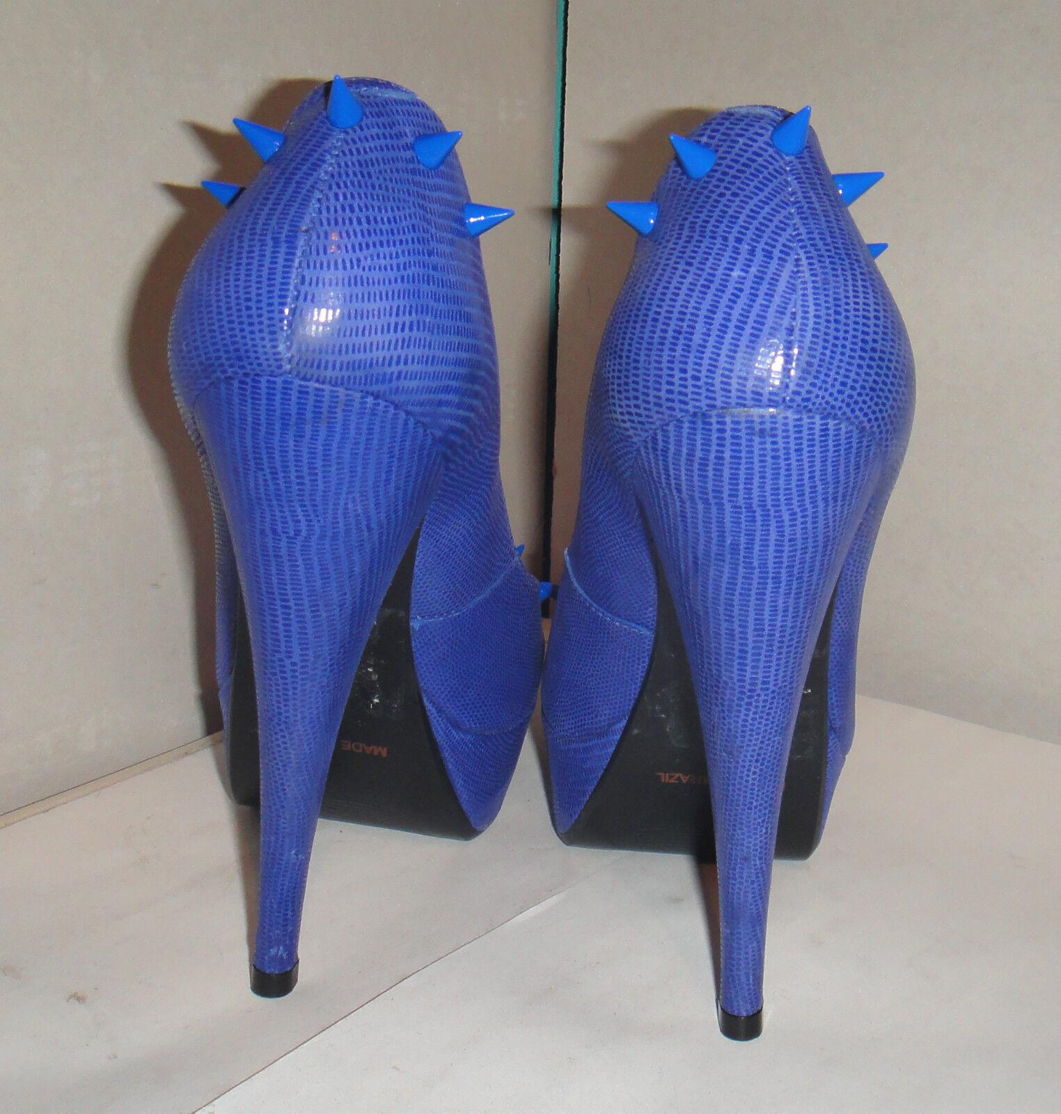 TOPSHOP CHELISE STRIKE Blau LEATHER PLATFORM KITSCH SPIKE 38 STUD ROCK Schuhe 5 38 SPIKE 7e4b78