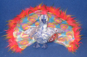 f2b10f7c160 TY FLASHY the PEACOCK BEANIE BABY - MINT with MINT TAGS 8421043392 ...
