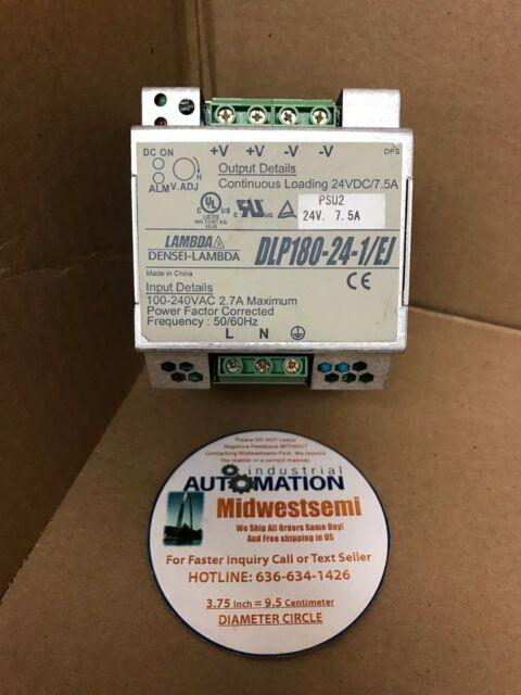 TDK-Lambda Power Supply Used Warranty DLP180-24-1//EJ 24VDC @ 7.5A