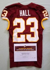 Details about #23 DeAngelo Hall of Redskins NFL Game Worn & Unwashed Jersey vs Giants W\COA