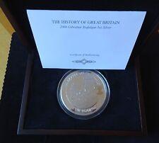 2008 SILVER PROOF 5OZ GIBRALTAR £10 COIN BOX + COA BATTLE OF TRAFALGAR 1/995