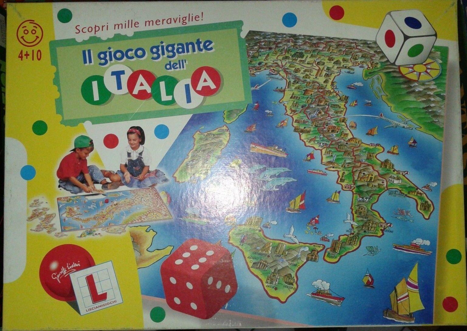 IL GIOCO GIGANTE DELL'ITALIA LISCIANI giocatori 2 anni 4
