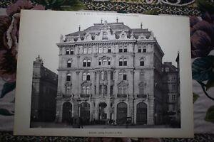 In 1886 4 Hoffmann Bauunternehmer Architekt Tischler Ausgezeichnete Wien I Am Hof 11 QualitäT