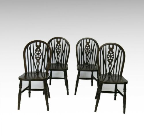 Set of 4 hoop - stick back kitchen chairs #2501