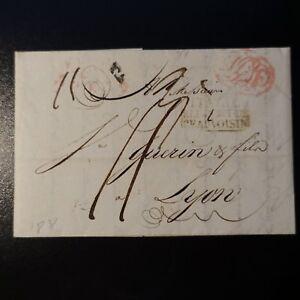 1831-LETTRE-COVER-MARQUE-POSTALE-NAPLES-ITALIE-PAR-LE-PONT-DE-BEAUVOISIN