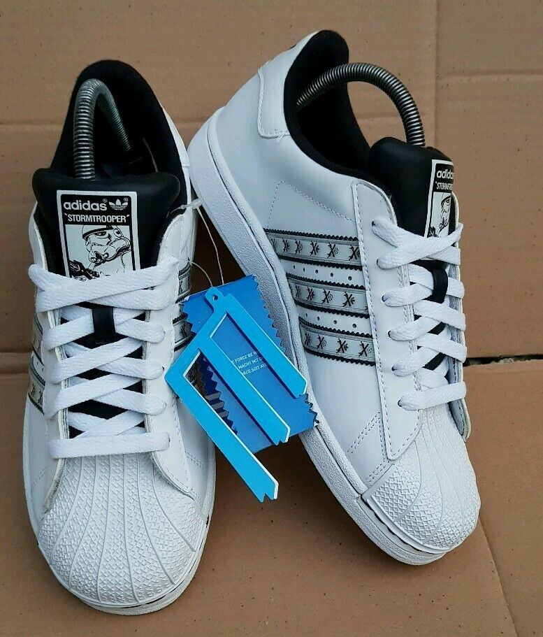 BNWT RARE ADIDAS SUPERSTAR STAR WARS STORMTROOPER TRAINERS WHITE SIZE 5.5 UK NEW
