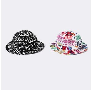 a572d7eb197 SUPREME Hysteric Glamour Text Bell Hat White Black S M box logo camp ...