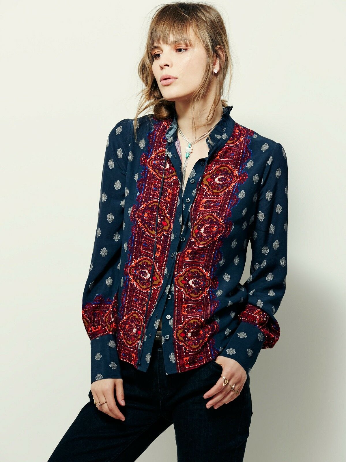 Free People Button Down Blouse Size Small