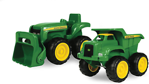 Details about  /Sandbox Tractor Truck Toy Interactive Fun Tomy John Deere Age 2 3 4 5 2 Pack