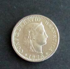 Münze 20 Rappen Schweizer Franken 1974 aus Umlauf gültiges Zahlungsmittel