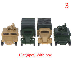 1:72 4D Hummer Missiles Truck Assemble Model Military Children Toy Boy Gift FO