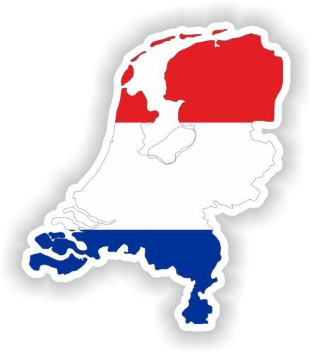 Netherlands Map Flag Sticker Car Sticker SILHOUETTE Motorcycle Helmet