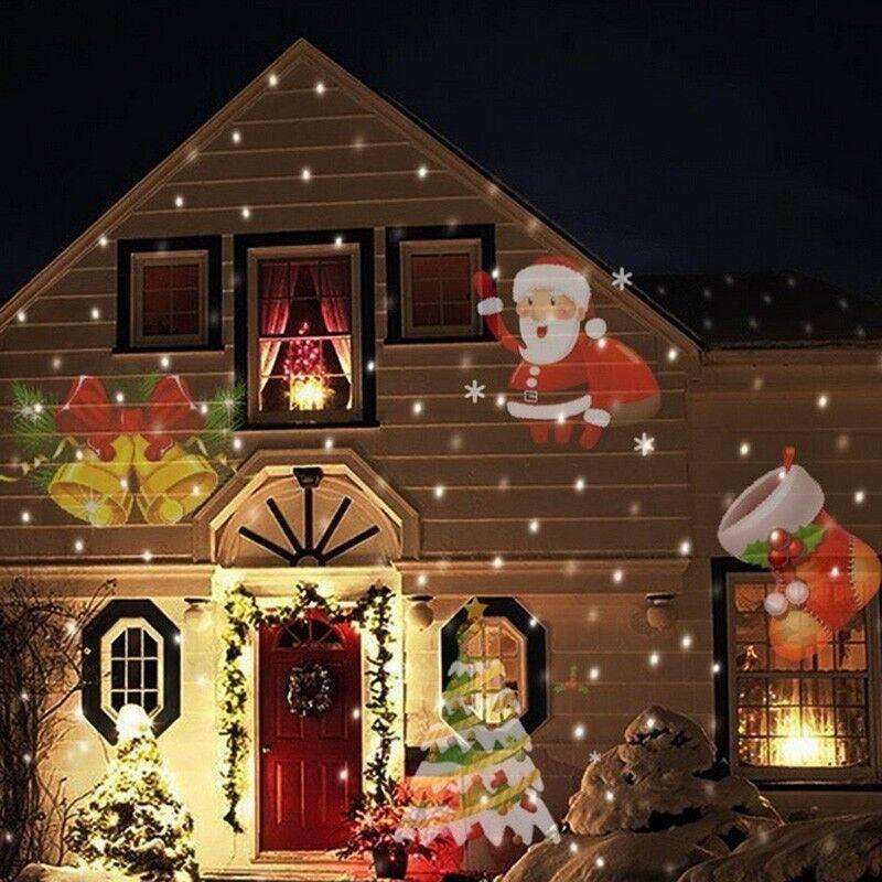 Outdoor Projector LED Snowflake Night Garden Decor Waterproof
