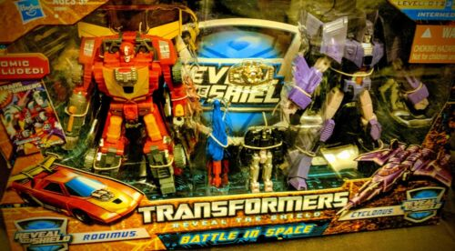 TRANSFORMERS Reveal the Shield BATTLE IN SPACE Rodimus & Cyclonus MISB
