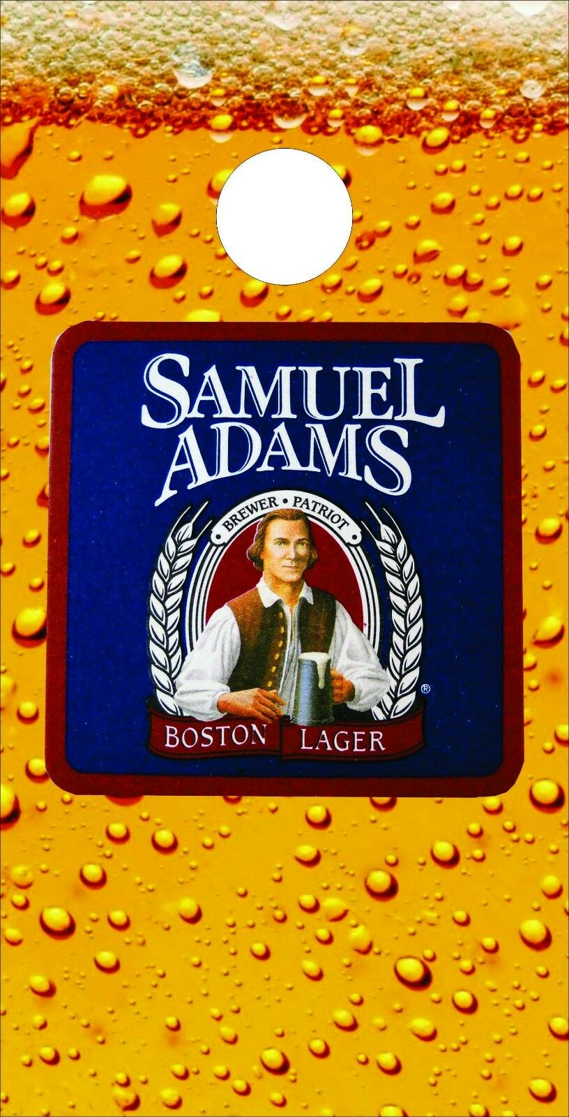Corn Hole Graphic - Samuel  Adams Beer Glass  new branded