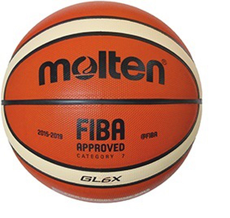 Molten Indoor Basketball GL6X Fiba Premium Leather BGL7X Size 6