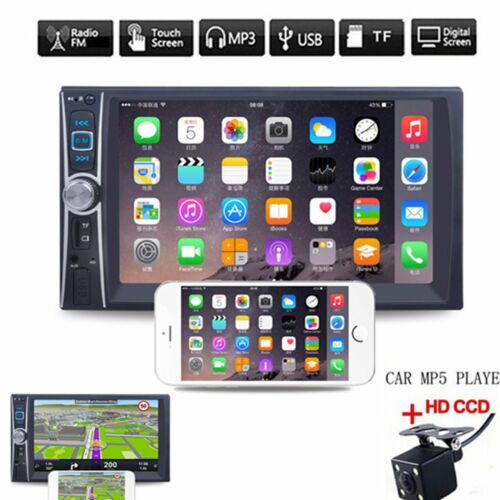 """6.6/"""" 2DIN Car MP5 Player Bluetooth MP3//MP4//Audio//Video//USB Rearview+Camera"""