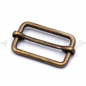 15mm~38mm Metal Sliding Bar Strap Adjuster Buckle Slider Belt Leather Bag Strap