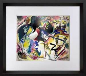 Wassily KANDINSKY Lithograph SIGNED Limited Ed. RARE w/Frame Included