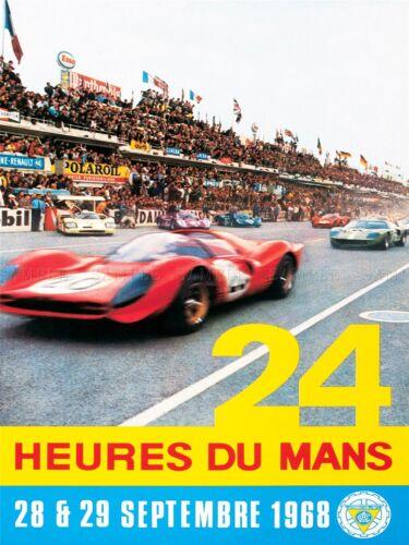 SPORT ADVERT LE MANS 24 HOUR RACE CAR MOTOR FRANCE ART POSTER PRINT LV3875