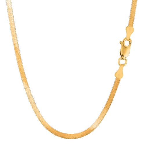 14K Yellow Solid Gold Imperial Herringbone Chain Width 3.0mm