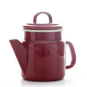 claret red 1 2l enamel coffee pot teapot tea induction. Black Bedroom Furniture Sets. Home Design Ideas