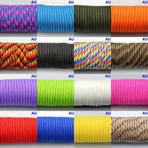 50-300FT-550-Paracord-Parachute-Cord-Lanyard-Mil-Spec-Type-III-7-Strand-Core
