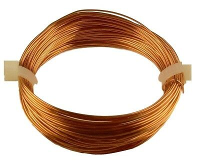 68 FT. SOLID BARE COPPER COIL COPPER WIRE 28 GA  1//2 OZ HALF HARD