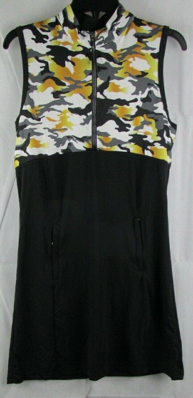 GG Blau Luxe Sport damen Carrie Dress Sleeveless Eclipse schwarz Größe Medium