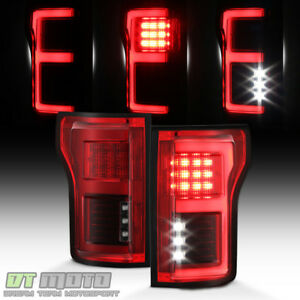 2016 F150 Tail Lights >> Red 2015 2016 2017 2018 Ford F150 Full Led W Blind Spot Sensor Tail