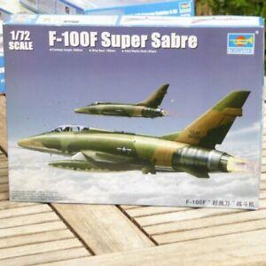 Trumpeter-01650-1-72-Bausatz-Flugzeug-North-American-F-100F-034-Super-Sabre-034-in-OVP