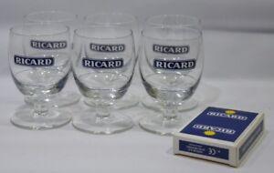 RICARD-6-verres-17-cl-trait-dose-2cl-jeu-de-54-cartes-NEUF
