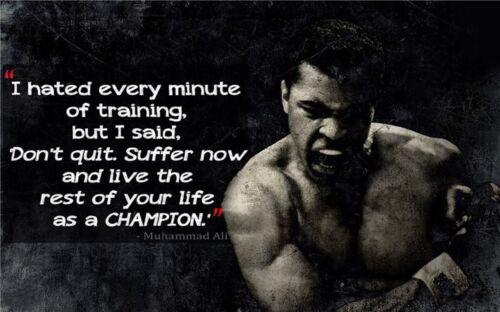 Muhammad ALi Bodybuilding Fitness Motivational Gym Poster 40x24 B21