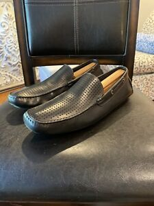 BOEMOS-Leather-Loafer-Shoes-Size-12-Men-s-Euro-45-Black-Slip-On